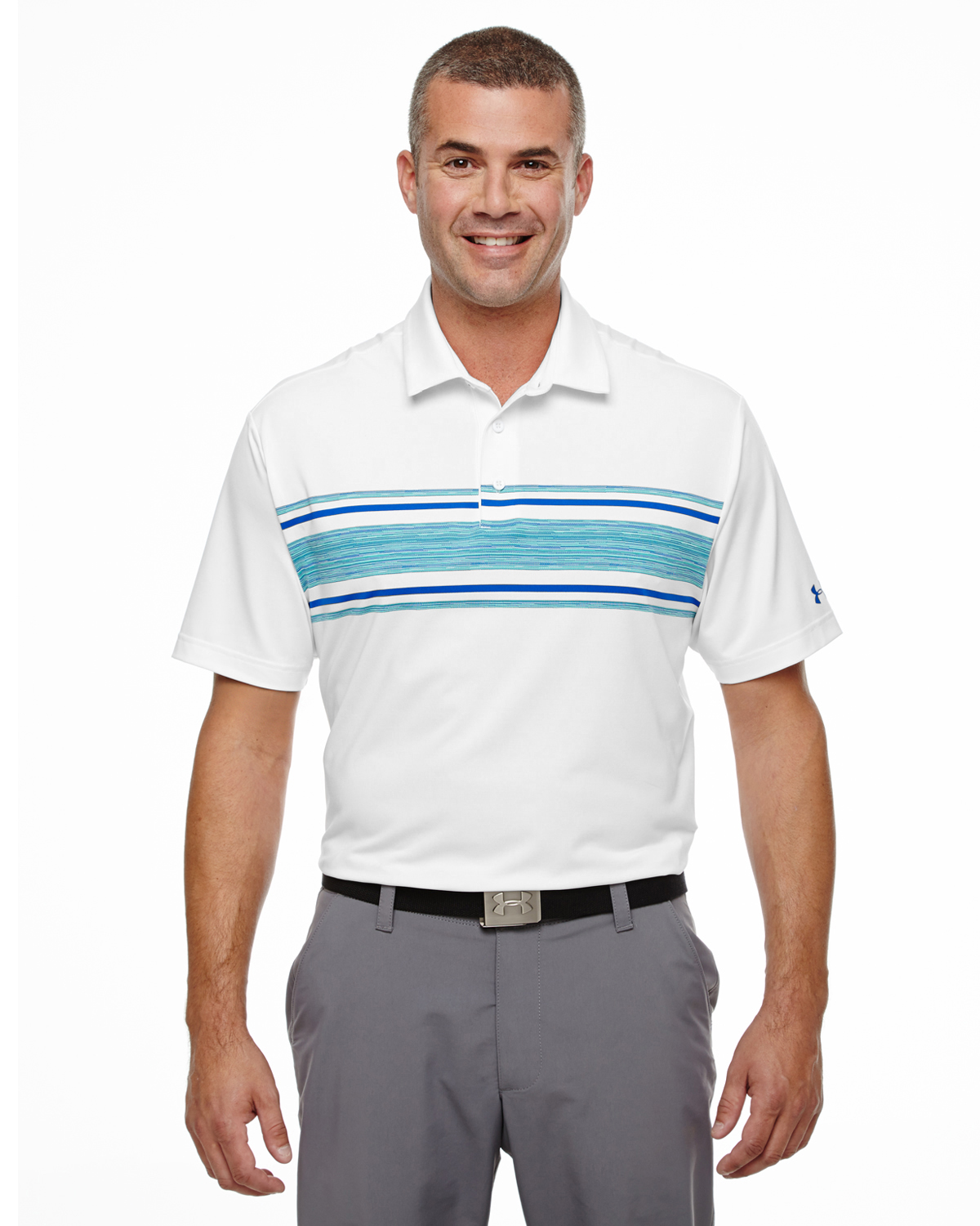 MENS UA PLAYOFF SPACE DYED POLO