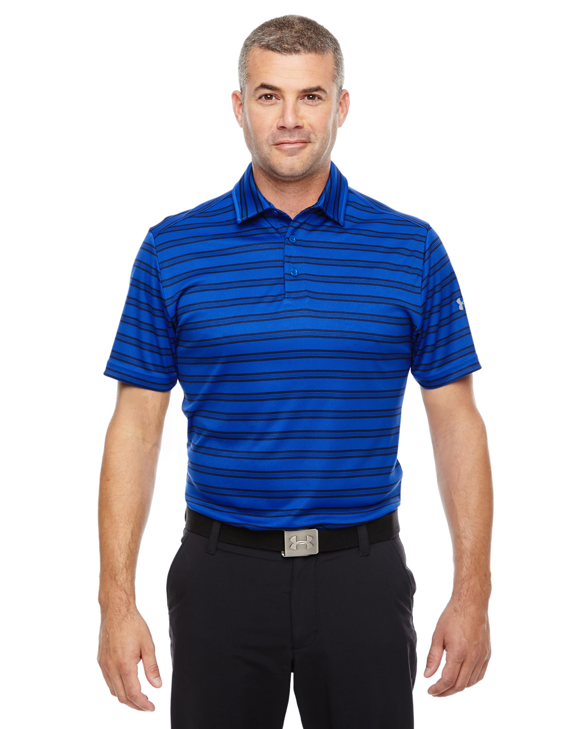 MENS UA TECH STRIPE POLO
