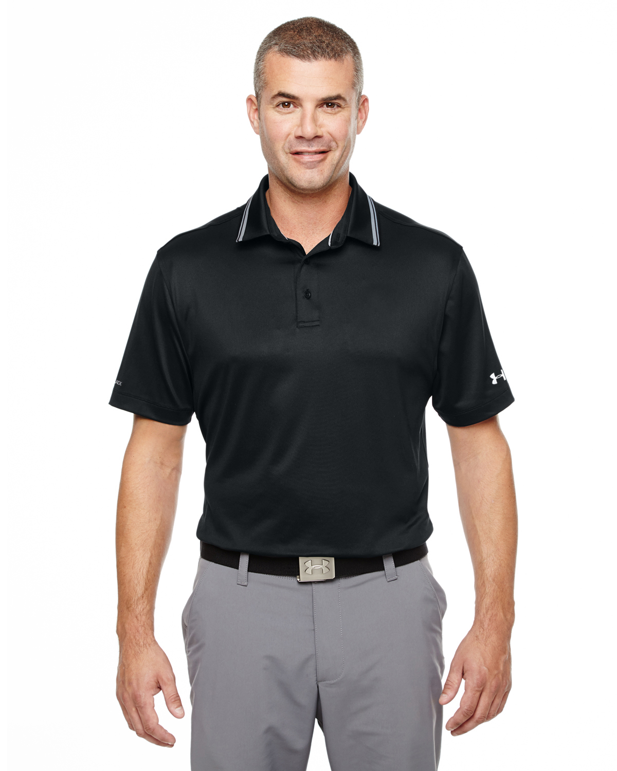 MENS UA coldblack ADDRESS POLO