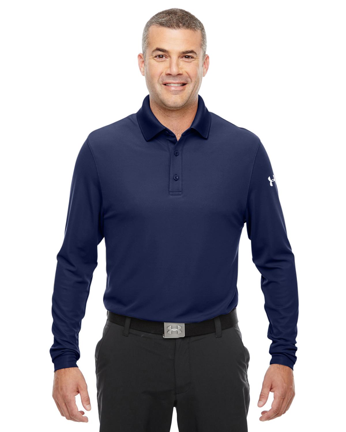 MENS UA PERFORMANCE LONG-SLEEVE POLO