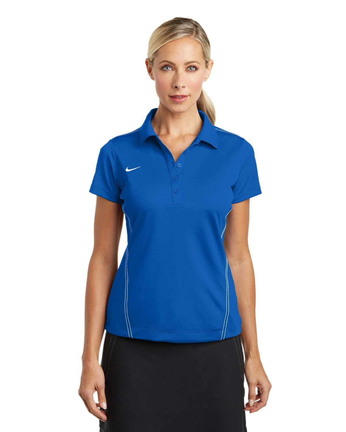 LADIES DRI-FIT SPORT SWOOSH PIQUE POLOS