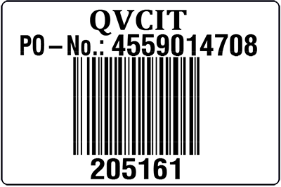 QVC Italy Sample Unit Label