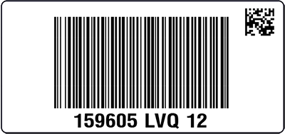 QVC UK Sample Unit Label